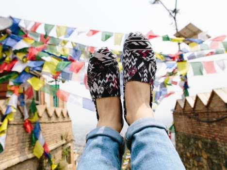 Charitable Footwear Collaborations - The New TOMS Collection Features Designs by Prabal Gurung