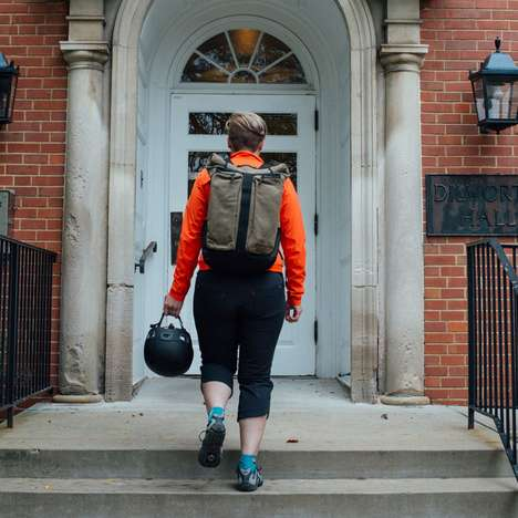 Swanky Backpack Panniers - The Wayside Backpack Can Be Attached To Your Bike Rack For Long Rides