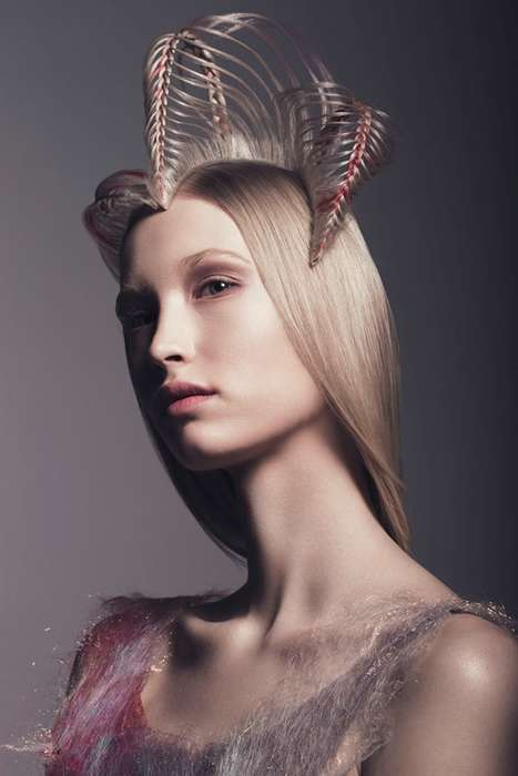 Sculptural Hair Portraits - Weronika Kosinska's 'Amazones Collection' Story Boasts Daring Tresses