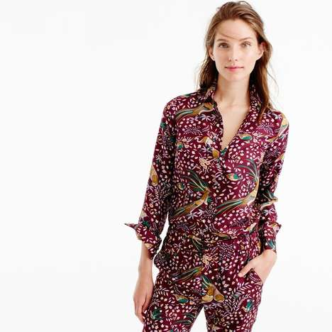 Stylish Silk Womenswear Collections - The Latest J. Crew Collaboration Features Boldly Hued Patterns