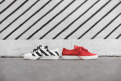 Brand-Heavy Striped Sneakers - OFF-WHITE Released a Shoe Series Decorated with Its Iconic Logo