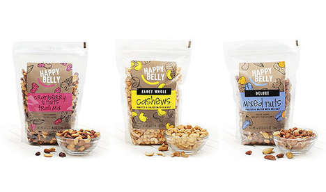 Online-Only Snack Collections - Amazon's 'Happy Belly' Range is Exclusively Available Online
