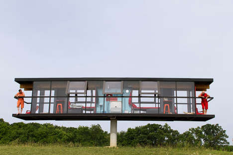 Elevated Rotating Homes - This Rotating Houses Move Horizontally to Provide All-Encompassing Views