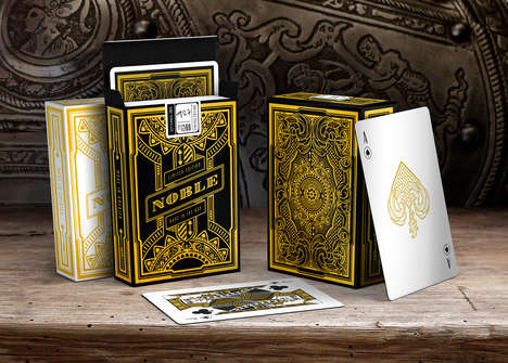 Luxury Playing Cards - Noble Deck's Gold-Dipped Cards Make Gaming a More Lavish Experience
