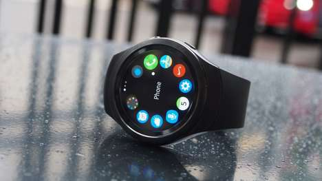 No-Frills Analogue Smartwatches - The Samsung Gear S3 Watch Includes Tech and Traditional Features