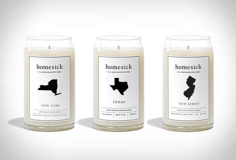 Topographic-Scented Votives - The 'Homesick Candles' Recreate Reminder Scents of Different Cities