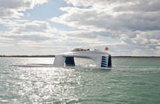 Hydrodynamic Gliding Yachts - The 'Super Sports SS18' Boat Sits Above The Water For Added Speed