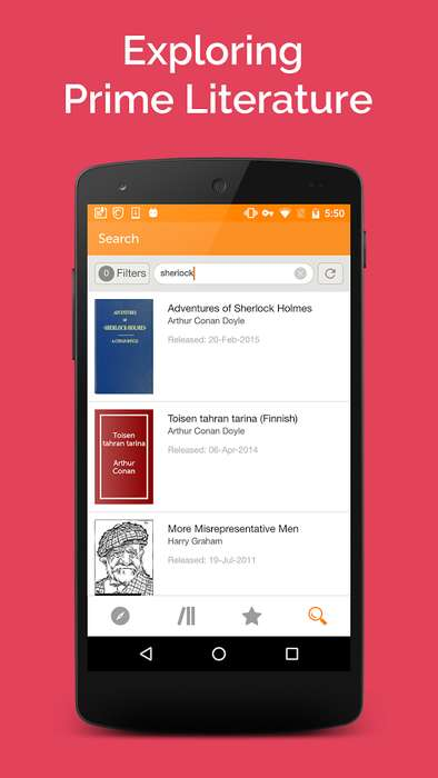 Expansive E-Book Apps - The Gutenberg Books App Includes Over 50,000 Downloadable Titles