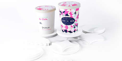 Graphic Ice Cream Branding - These Playful Ice Cream Graphics are Luz Del Dia's Main Selling Point