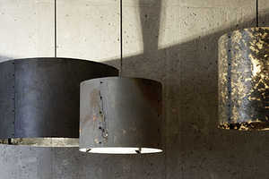 The 'Rock Collection' Features Lampshades Made from Natural Shale