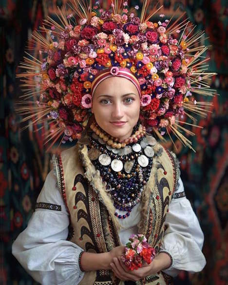 Celebratory Ukrainian Portraiture - Treti Pevni Tributes Ukrainian Culture with Vibrant Photography