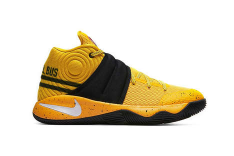 Bus-Inspired Sneakers - Kyrie Irving's Nike Collaboration Reveals Yellow Sneakers