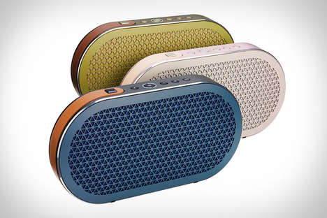 Sound-Optimizing Portable Speakers - These Convenient Speakers Offer a Sleek Oval Design