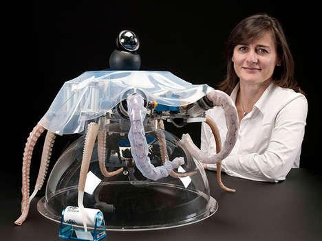 Soft-Bodied Robotic Octopi - The BioRobotics Institute Has Developed a Self-Propelling Octo-Bot