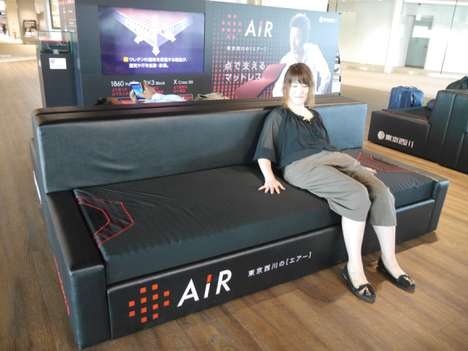 Mattress-Advertising Airport Lounges - This Airport Seating Lounge Provides Ultra-Comfortable Seats