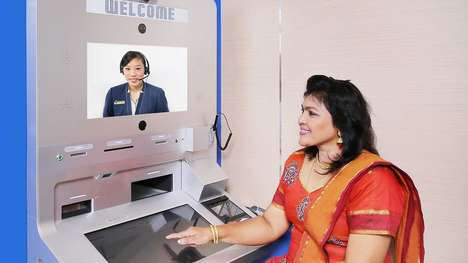 Video Chat ATMs - Singapore's DBS Bank is Testing ATMs with a Live Video Call Option