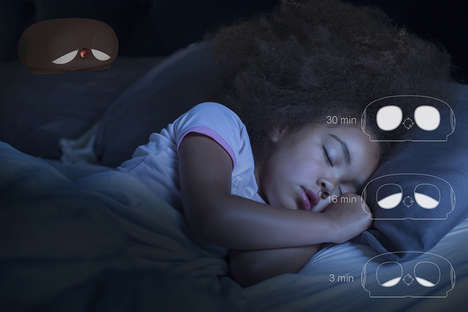 Adorably Sleepy Nightlights - 'Sleeping I' Has Light-Up Eyes That Slowly Close as Kids Fall Asleep