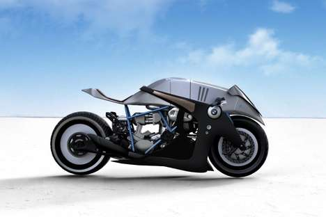 Speedy Biomimicry Motorcycles - The BMW Typhoon Takes Design Inspiration from a Peregrine Falcon
