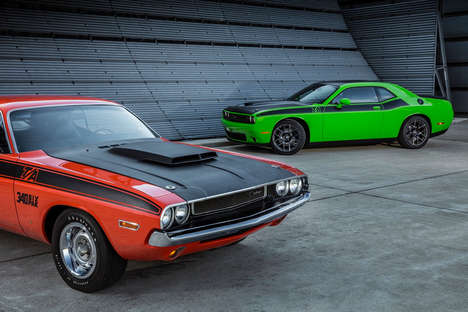 Modernized 70s Muscle Cars - The 'Challenger T/A' and 'Charger Daytona' are New Classic Muscle Cars