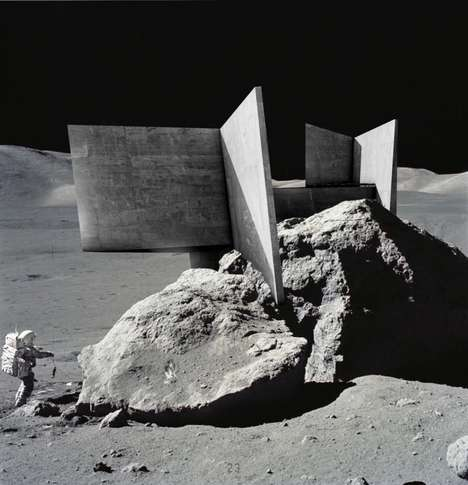 Moon Temple Proposals - 'Peak of Eternal Light' is a Lunar Temple for the European Space Agency