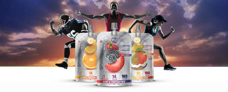 Adult-Oriented Fruit Pouches - The 'Smash Pack' Fruit Blends Help Consumers Fuel Up on the Go