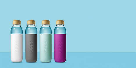 Dual-Toned Water Bottles - These Glass Water Bottles Have a Sleek and Sustainable Design