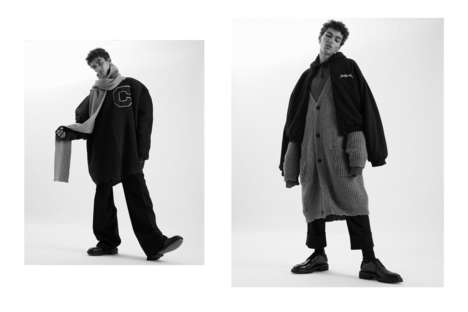 Overtly Oversized Editorials - LN-CC Debuted Its New Fall Layered Styles with a Youthful Lookbook