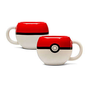 Anime Ball Mugs - The Pokemon Ball Cup Recreates the Trainer's Main Accessory