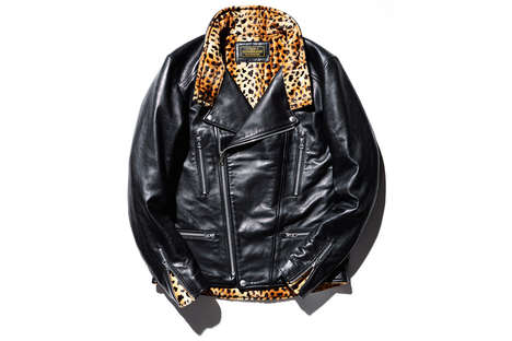 Luxe Leopard Leather Jackets - NEIGHBORHOOD's Take on the Classic Style Lavishly Revitalizes It