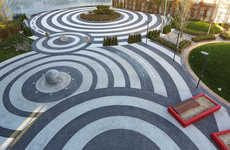 Swirled Pavement Installations