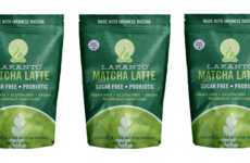 Probiotic Latte Powders - LAKANTO's Matcha Latte is Naturally Sweetened with Monk Fruit