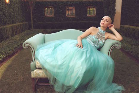 Fairytale Cancer Captures - Andrea Sierra Salazar Stars Proudly in a Glam Photoshoot Without Her Wig