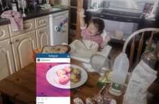Revealing Social Media Campaigns - 'Wren Kitchens' Shows That Instagram Perfection Isn't Reality