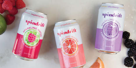 Vibrant Seltzer Water Branding - These Fresh Drinks Offer a Variety of Unique Flavors