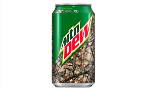 Camouflaged Soda Cans - The New Mountain Dew Packaging is Inspired by the Outdoors