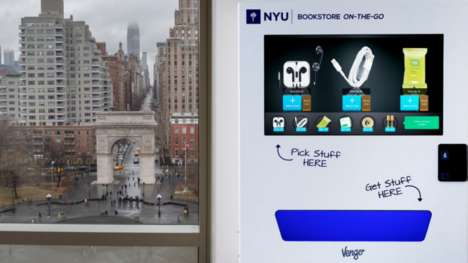 Digital Campus Vending Machines - These Vending Machines Flash Ads at College Students