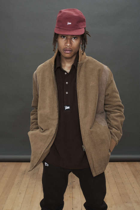 Subdued Masculine Streetwear - Patta's Line of Men's Casual Clothing Utilizes Wintry Neutral Tones