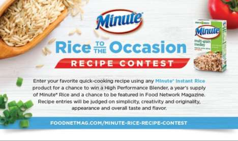Rice-Oriented Cooking Contests - The 'Rice to the Occasion' Contest Involves Minute Rice Recipes