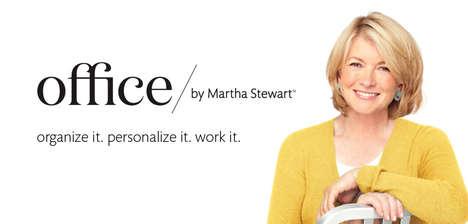 Celebrity-Branded Office Supplies - Staple's 'Office by Martha Stewart' Line Emphasizes Organization