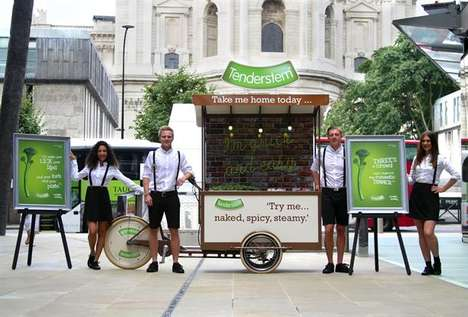 Broccoli Sampling Booths - Tenderstem's #GetTenderTonight Campaign Shares a Taste of Vegetables