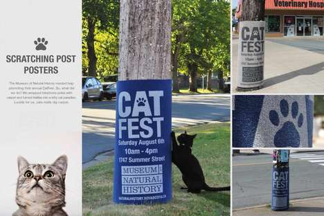 Scratch Pad Posters - These Museum Posters for the Museum of Natural History Advertise 'Cat Fest'
