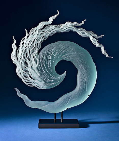 Whimsical Elemental Sculptures - K. William Lequier's Delicate Glass Art Honors the Water's Movement