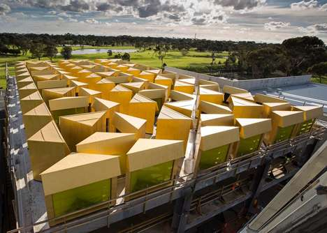 Colorful Geometric Mosques - The 'Australian Islamic Center' Comprises a Series of Triangular Rooms
