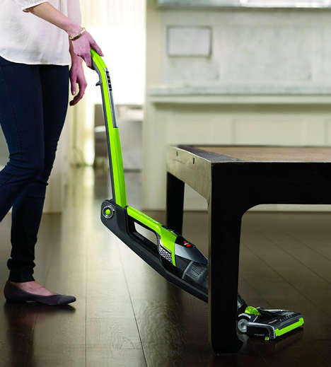 Hinged Vacuum Cleaners - The 'Bolt Ion Stick Vacuum' Can Fold to Fit Under Tight Spaces