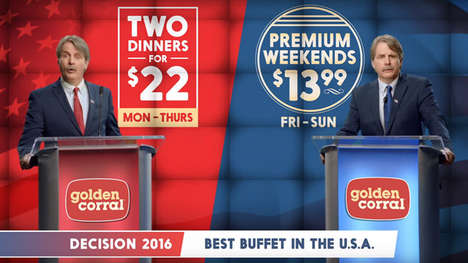 Election-Themed Dinner Promotions - Golden Corral's Newest Promotion is Inspired by the Election