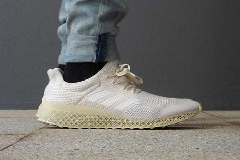 Minimalist 3D-Printed Sneakers - These Printed Shoes are Part of Adidas' Futurecraft Technology