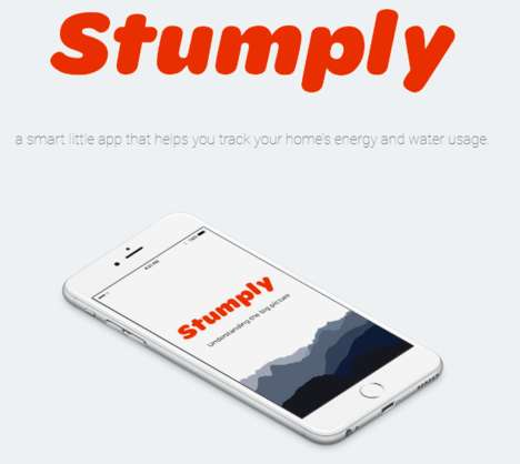 Utility Usage-Tracking Apps - The Stumply App Helps You Track Electricity and Water Consumption