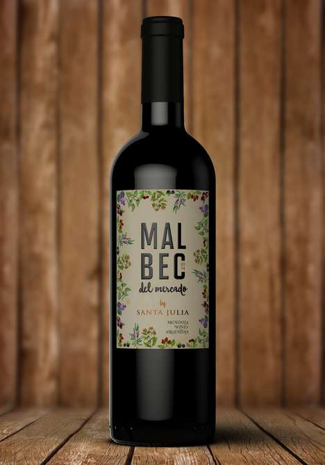 Botanical Wine Labels - This South American Wine is Marketed with Unique Floral Branding