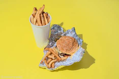 Fast Food Calorie Photography - This Series Shows the Suggested Caloric Intake at Major Food Chains
