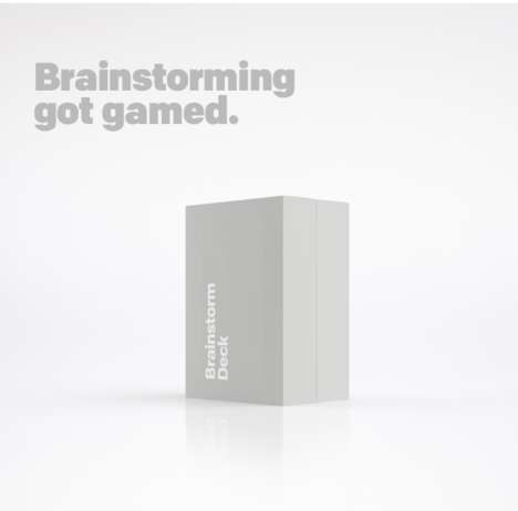 Brainstorming Card Games - Brainstorm Deck is a More Efficient Way to Generate Ideas in Groups